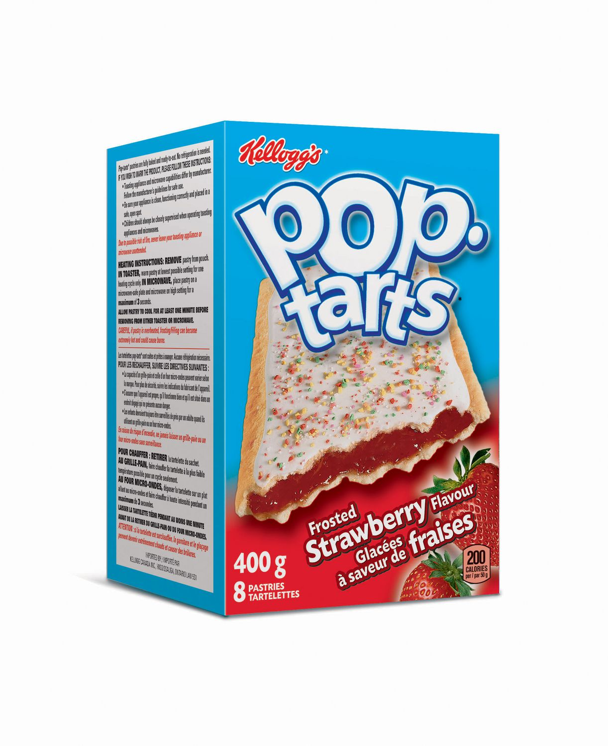 Pop Tarts Kelloggs Frosted Strawberry