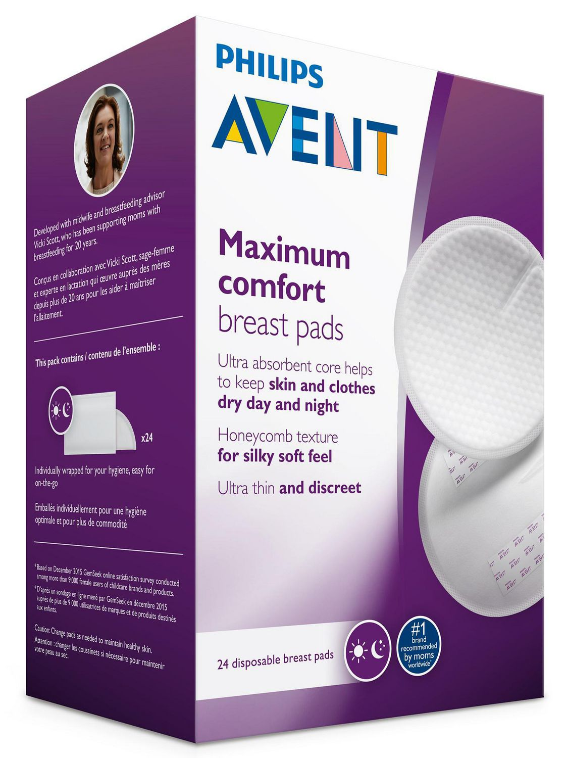 Philips Avent Disposable Breast Pads Day 24Pk