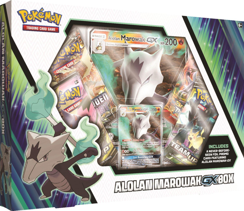 Pokemon TCG: Alolan Marowak-Gx/Box 4 Booster Pack A Foil Promo Card A Foil Oversize Card