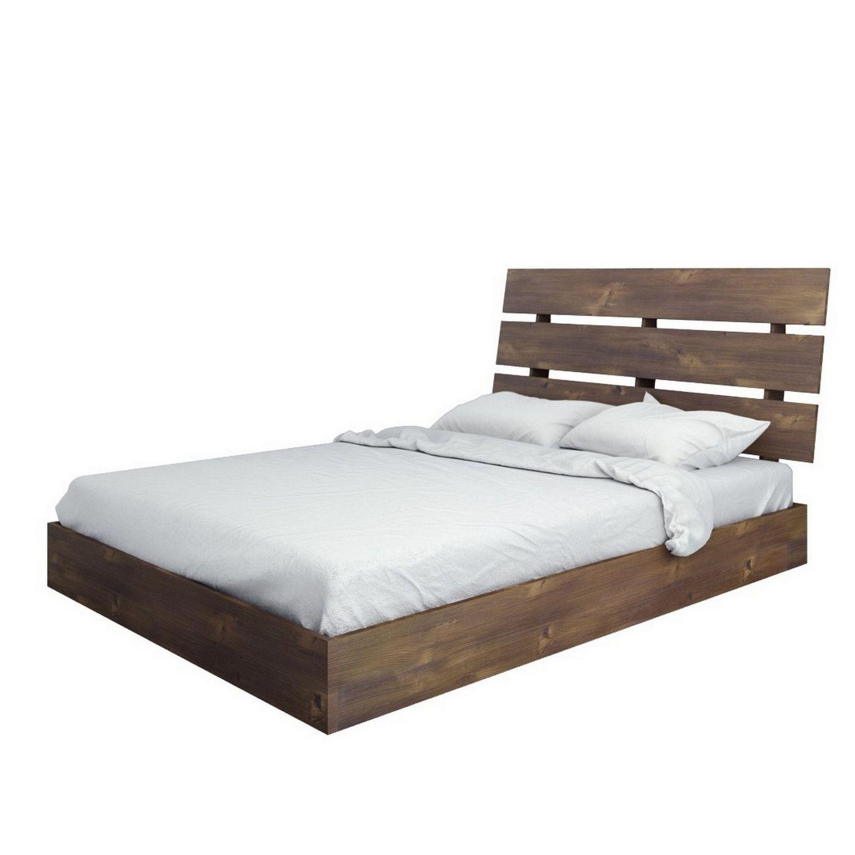 Nexera Nocce Full Size Slat Truffle Headboard And Platform Bed