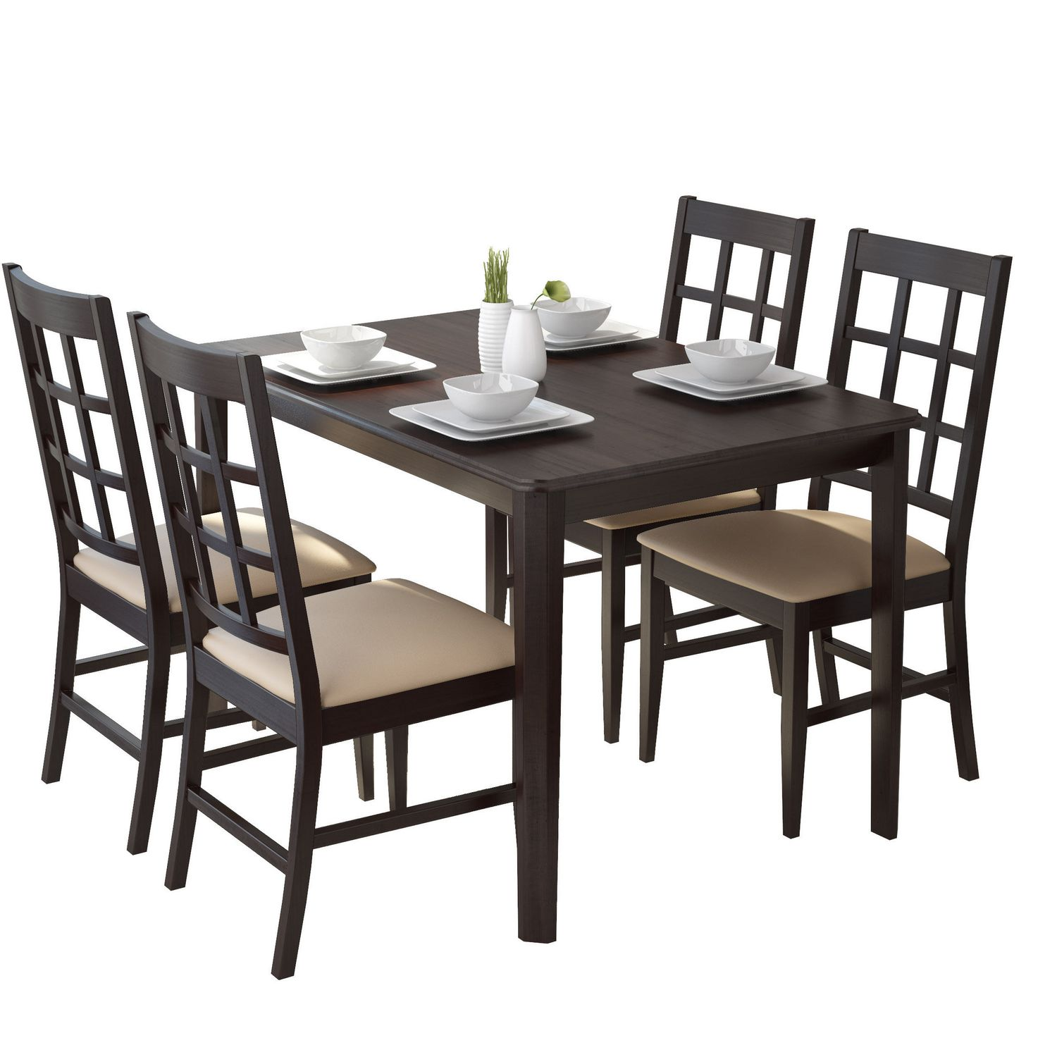CorLiving Atwood 5-Piece Dining Set With Grey Stone