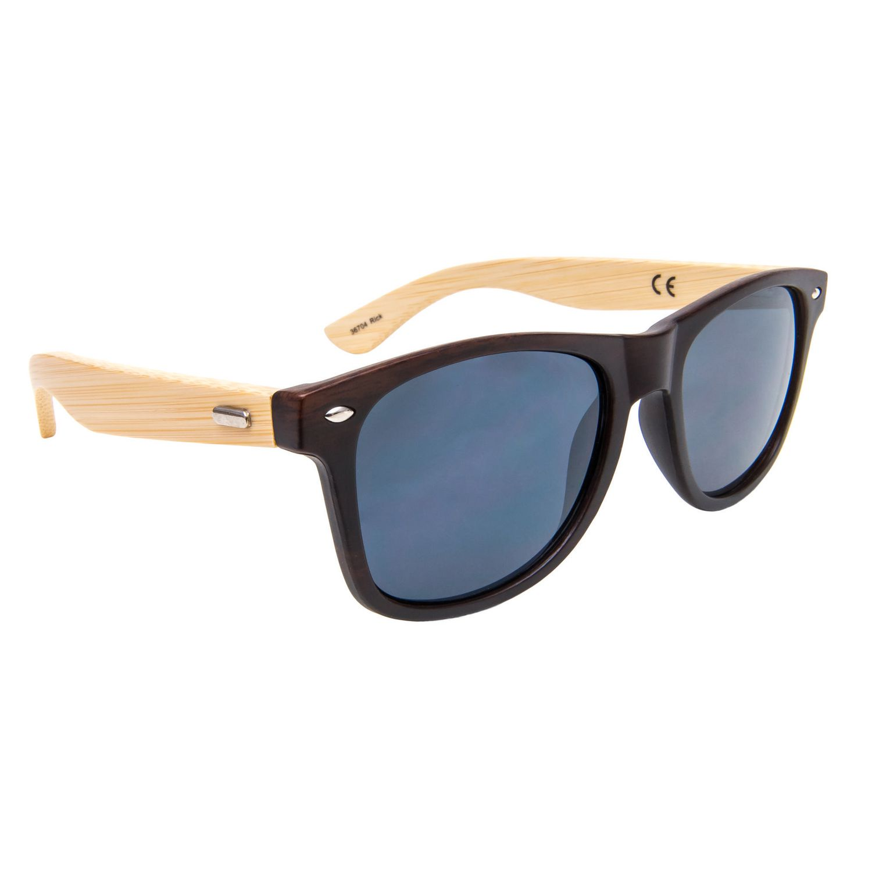 ef3641aa5c1 George Men s Wood Grain Bamboo Wayfarer Sunglasses - image 1 of 1 zoomed  image