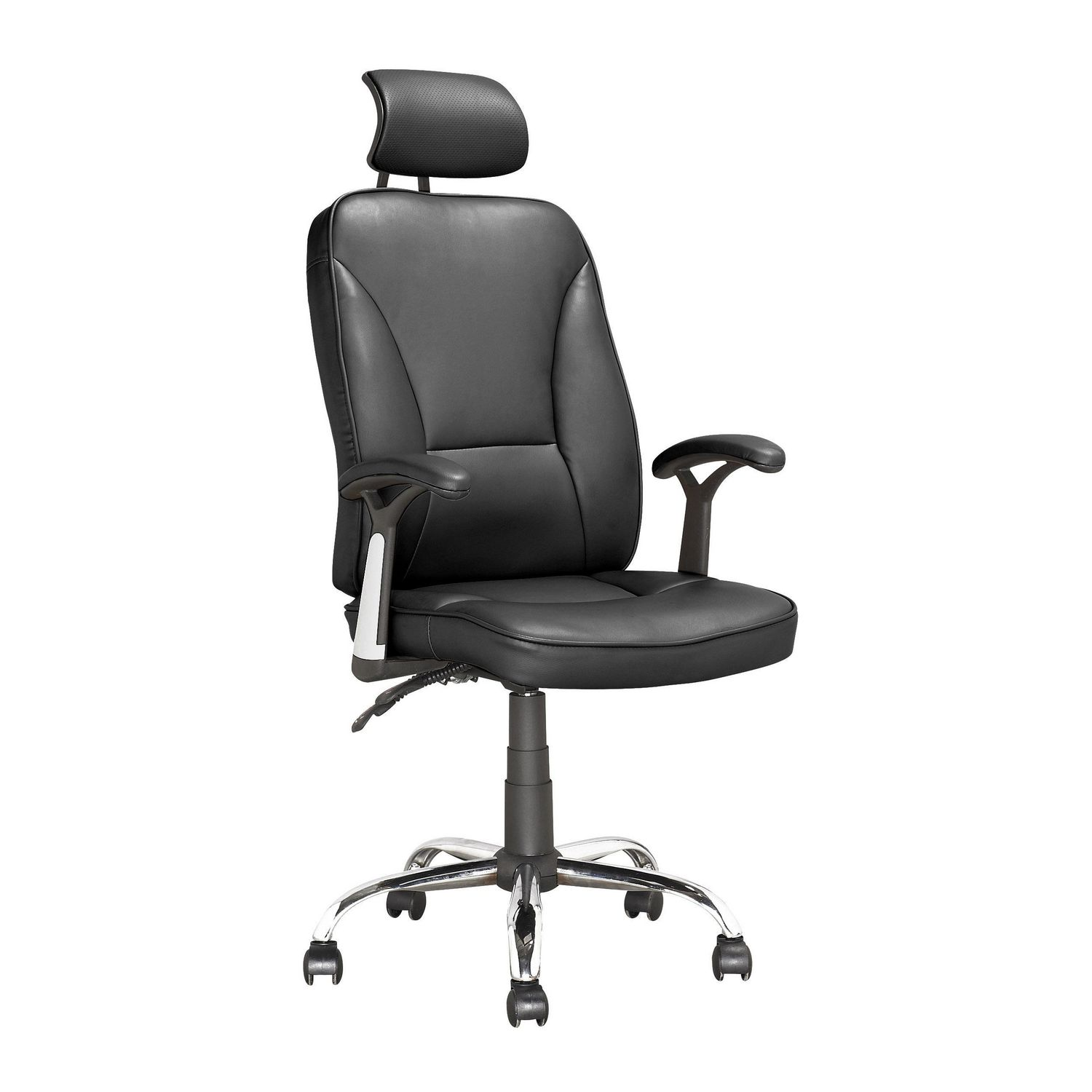 CorLiving Workspace Reclining Black Leatherette Executive