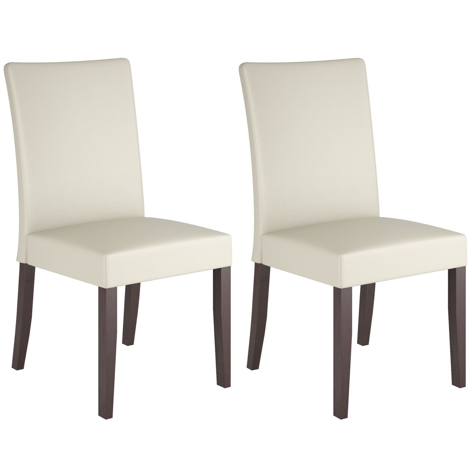 CorLiving Atwood Cream Leatherette Dining Chairs