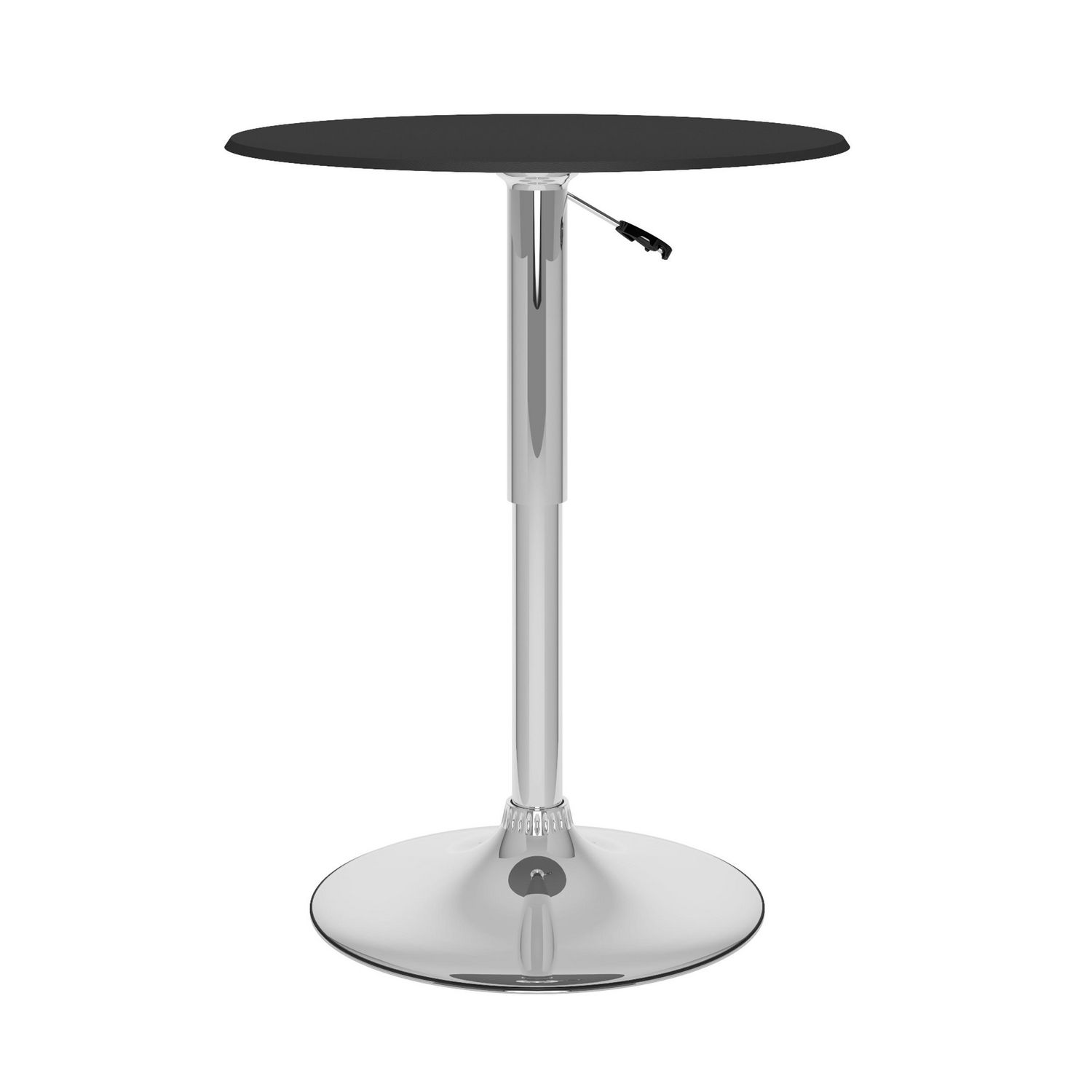 corliving tvpd adjustable bar table in black leatherette  - corliving tvpd adjustable bar table in black leatherette  walmartca