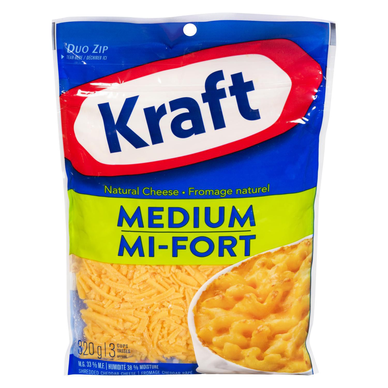 Kraft Shredded Medium Cheddar Natural Cheese