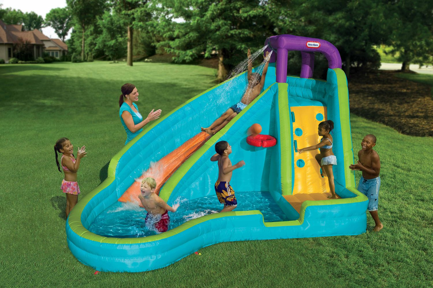 Little Tikes Outdoor Inflatables Slam U0027nu0027 Curve Water Slide | Walmart Canada