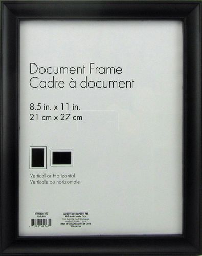 hometrends nikolai black 85 x 11 picture frame walmartca