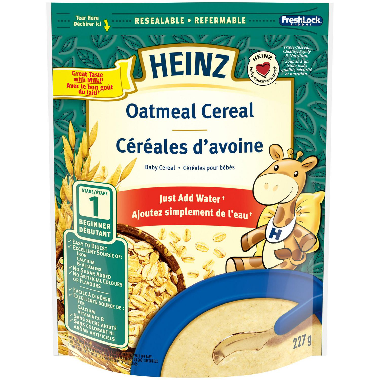 Heinz Baby Oatmeal Cereal With Milk