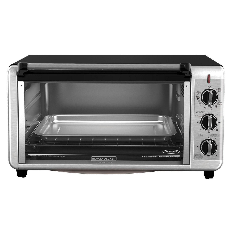 Large Toaster Oven in Black Digital Kitchen Countertop Bake Roast Toast Broil
