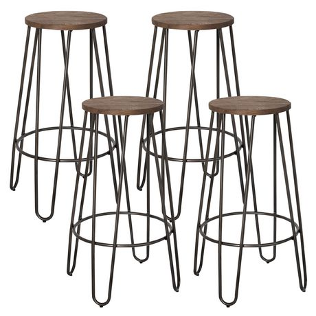 Worldwide Homefurnishings Wood/Black Metal Counter Stool | Walmart Canada  sc 1 st  Walmart Canada & Worldwide Homefurnishings Wood/Black Metal Counter Stool | Walmart ... islam-shia.org