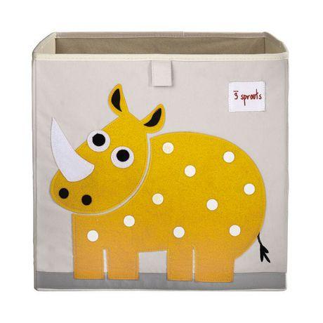 Boîte de rangement 3 Sprouts pour enfants à motif de rhinocéros - image 1 de 1