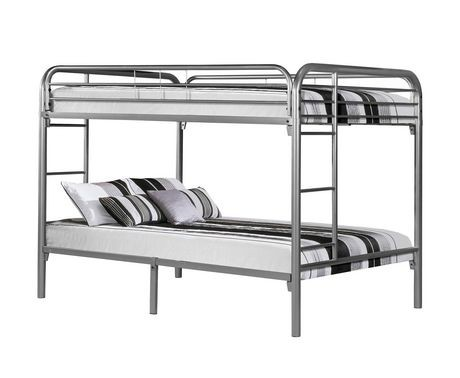 silver metal full bunk bed walmart canada. Black Bedroom Furniture Sets. Home Design Ideas