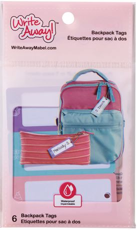 Mabel's Labels Write Away Girls Bag Tags, 6 Count - image 1 of 3