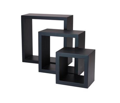 hometrends 3 piece wall cube black shelf set walmart canada rh walmart ca black box wall shelves