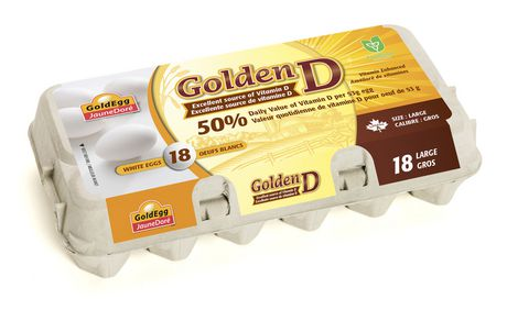 GoldEgg Golden D Vitamin D Enriched Large Eggs - image 1 of 2