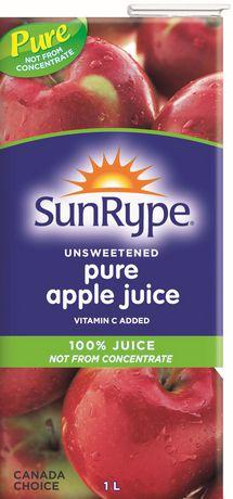 SunRype Unsweetened 100% Pure Apple Juice - image 1 of 3