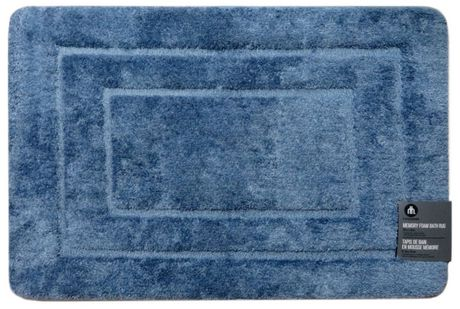 hometrends Memory Foam Blue Melange Rug - image 1 of 1