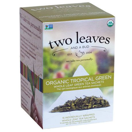 Two Leaves And A Bud Inc Organic Tropical Green Tea