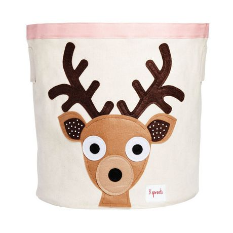 3 Sprouts Deer Baby Toys Storage Bin - image 1 of 1
