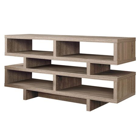 Monarch specialties tv stand dark taupe 48 l walmart for Meuble tv 58 pouces