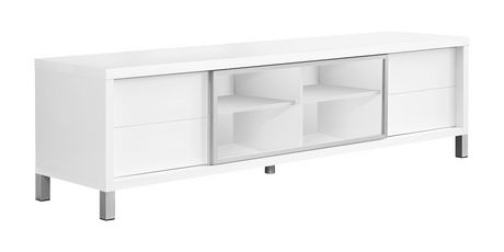 """Monarch Specialties TV Stand - White, 70""""L - image 1 of 3"""
