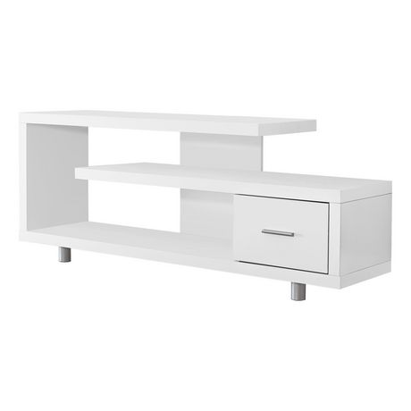 """Monarch Specialties TV Stand - White, 60""""L - image 1 of 3"""