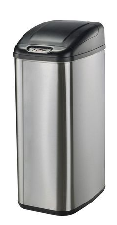Nine Stars Motion Sensor Slim Touchless 13.2-Gallon Trash Can - image 1 of 3