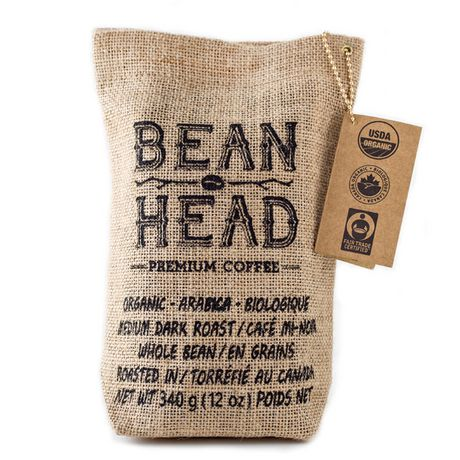 BEAN HEAD - Premium Grade Organic Coffee - Whole Beans ...