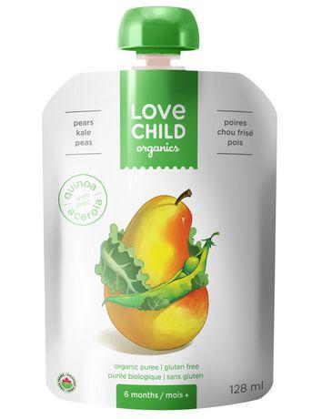Love Child Organics  Puree - Pears, Kale & Peas - image 1 of 3