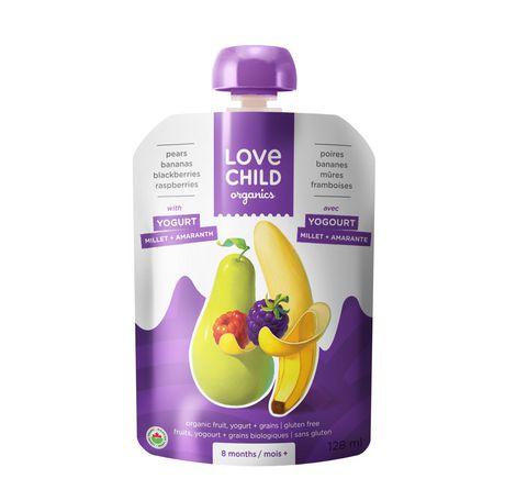 Nourriture pour bébés de Love Child Organics - Pochette de yogourt aux poires, bananes, framboises et mûres - image 1 de 2