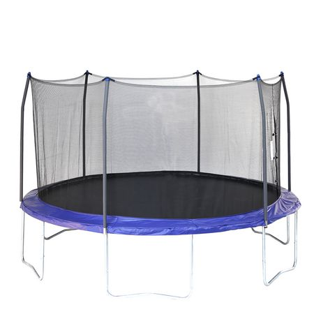 Skywalker Trampolines 15' Blue Round Trampoline And Enclosure - image 1 of 8