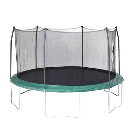 Skywalker Trampolines 15' Green Round Trampoline And Enclosure - image 1 of 8