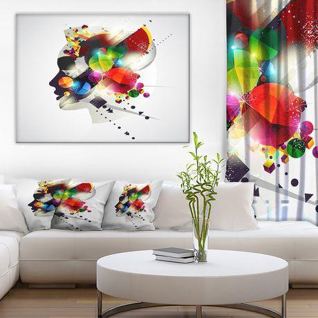 Impression sur toile « Woman Abstract Profile » Design Art - image 1 de 3