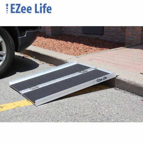 Ezee Life 3' Portable Folding Wheelchair Ramp with Grip Tape - image 1 of 2