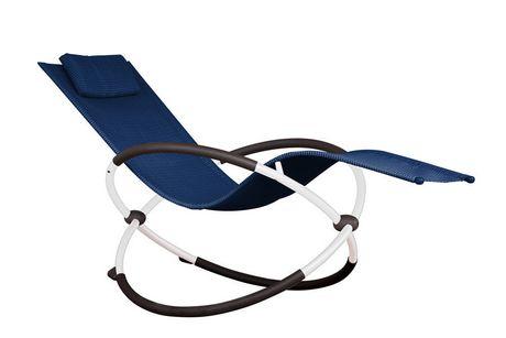 Chaise longue orbitale marine Vivere avec cadre en acier enduit de poudre blanche - image 1 de 1