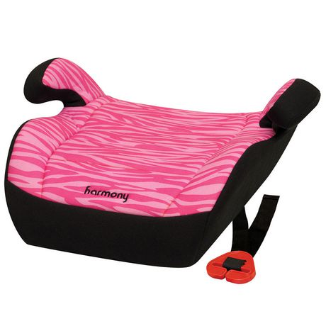 Harmony Youth Pink Zebra Booster Seat - image 1 of 5