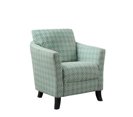 Monarch Specialties Chaise d'appoint - verte pâle - image 1 de 2