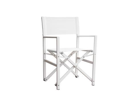 Chaise de studio pliante blanche Vivere en aluminium blanc avec cadre blanc - image 1 de 1