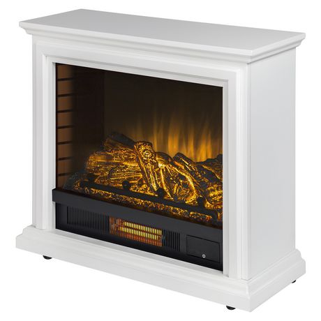 Pleasant Hearth Sheridan Mobile Fireplace White Walmart Canada