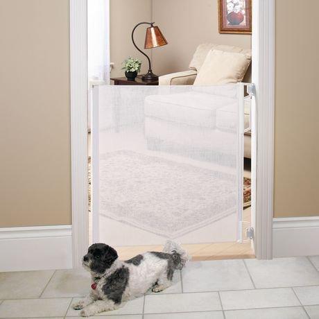 bily retractable safety gate white walmart canada. Black Bedroom Furniture Sets. Home Design Ideas