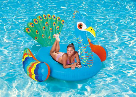 Play Day Extra Large Peacock Pool Float - image 1 of 3