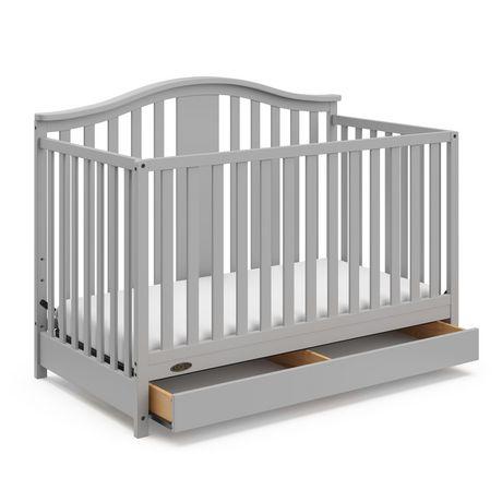 Graco Solano 4-in-1 Crib w/ Drawer - Pebble Grey - image 1 of 6