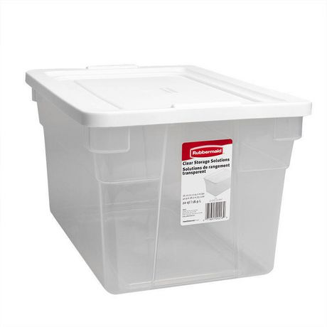 Rubbermaid 18 9 l storage container for Container en francais