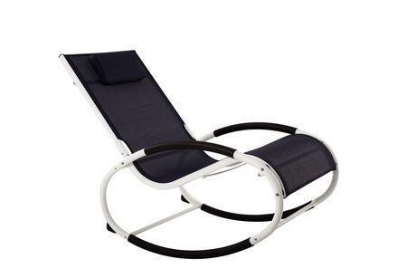 Chaise à bascule marine Vivere avec cadre en aluminium blanc - image 1 de 1