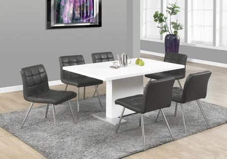 Monarch Specialties Glossy White Dining Table   Image 1 Of 2 ...