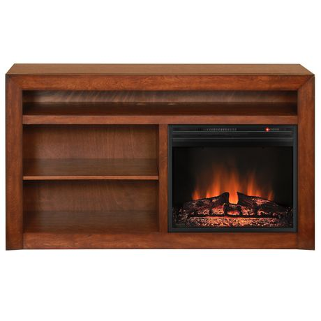 Muskoka Claire 23 Burnished Pecan Media Mantel Electric Fireplace