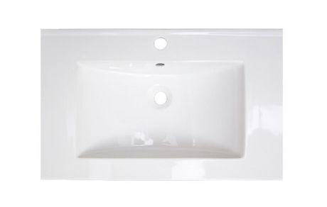 Lavabo plateau en céramique blanc American Imaginations de 60 cm de largeur et 45,72 cm de profondeur pour robinet simple. - image 1 de 1