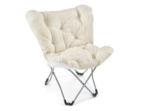 chaise pliante papillon blanche red label walmart canada. Black Bedroom Furniture Sets. Home Design Ideas