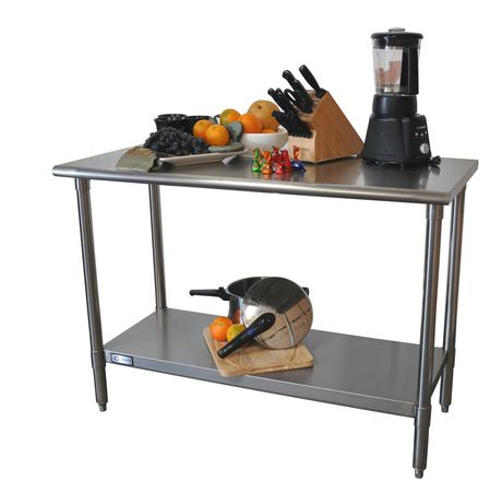 High Quality TRINITY EcoStorage™ NSF Stainless Steel Prep Table